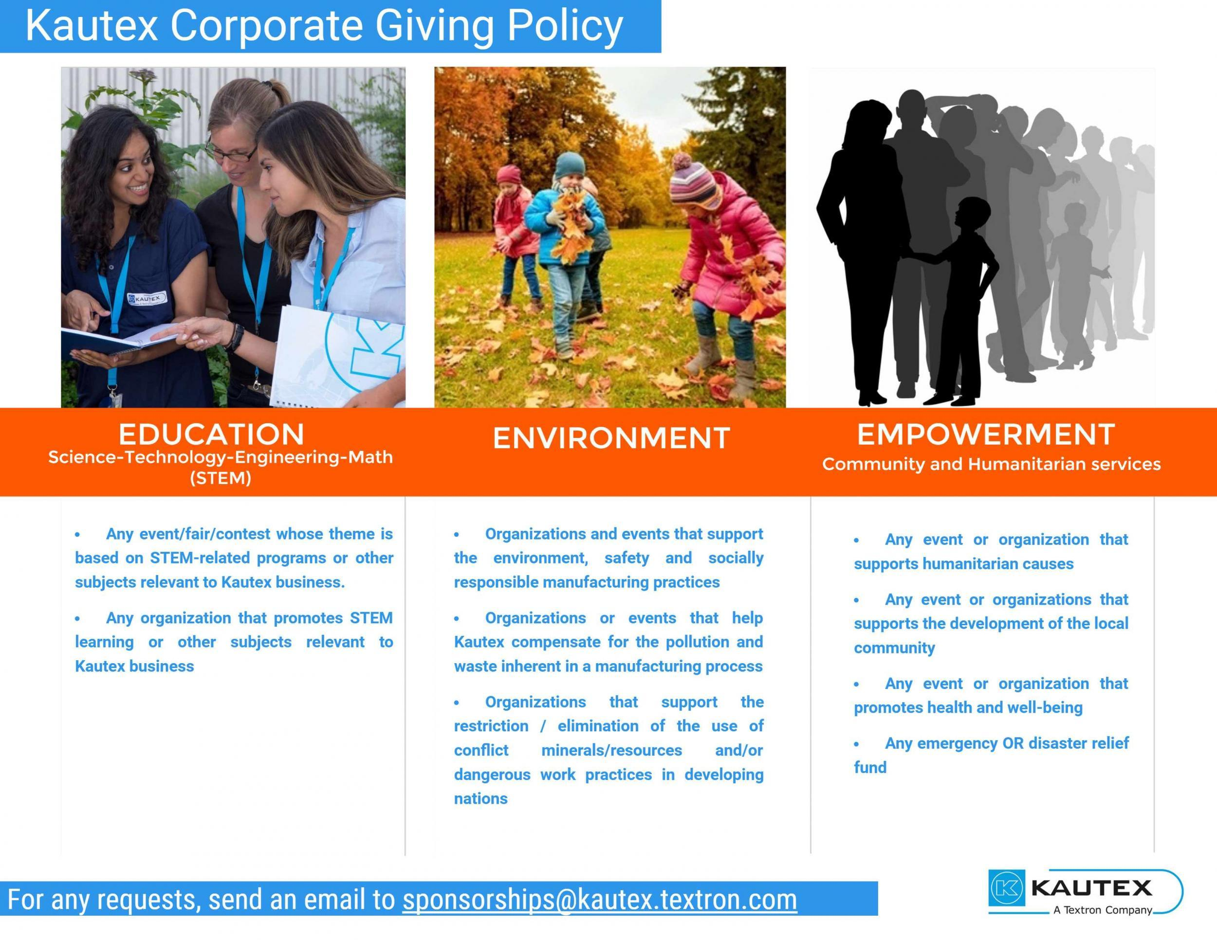 Kautex Corporate Giving Policy