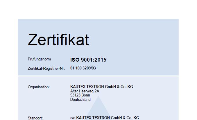 ISO 9001 Duisdorf Bild